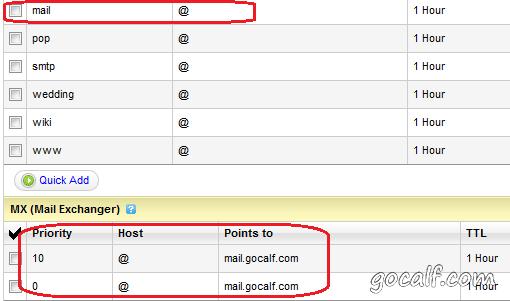 GoDaddy 中 DNS 设置