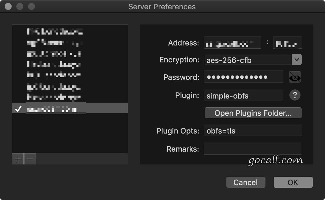 ShadowsocksX-NG 服务器配置